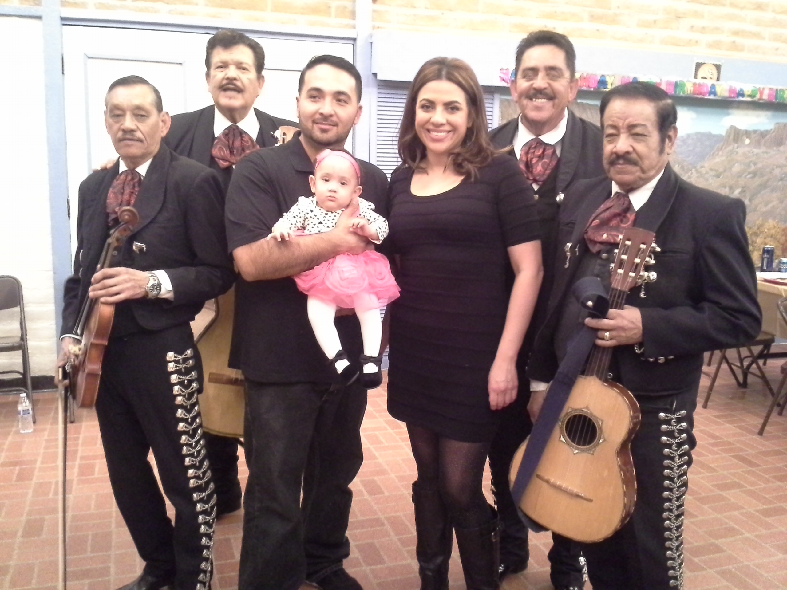 Baptism mass is better with good Mariachi music