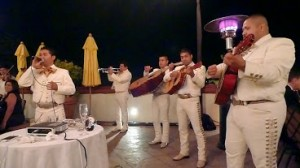 Mariachi band performing at a wedding