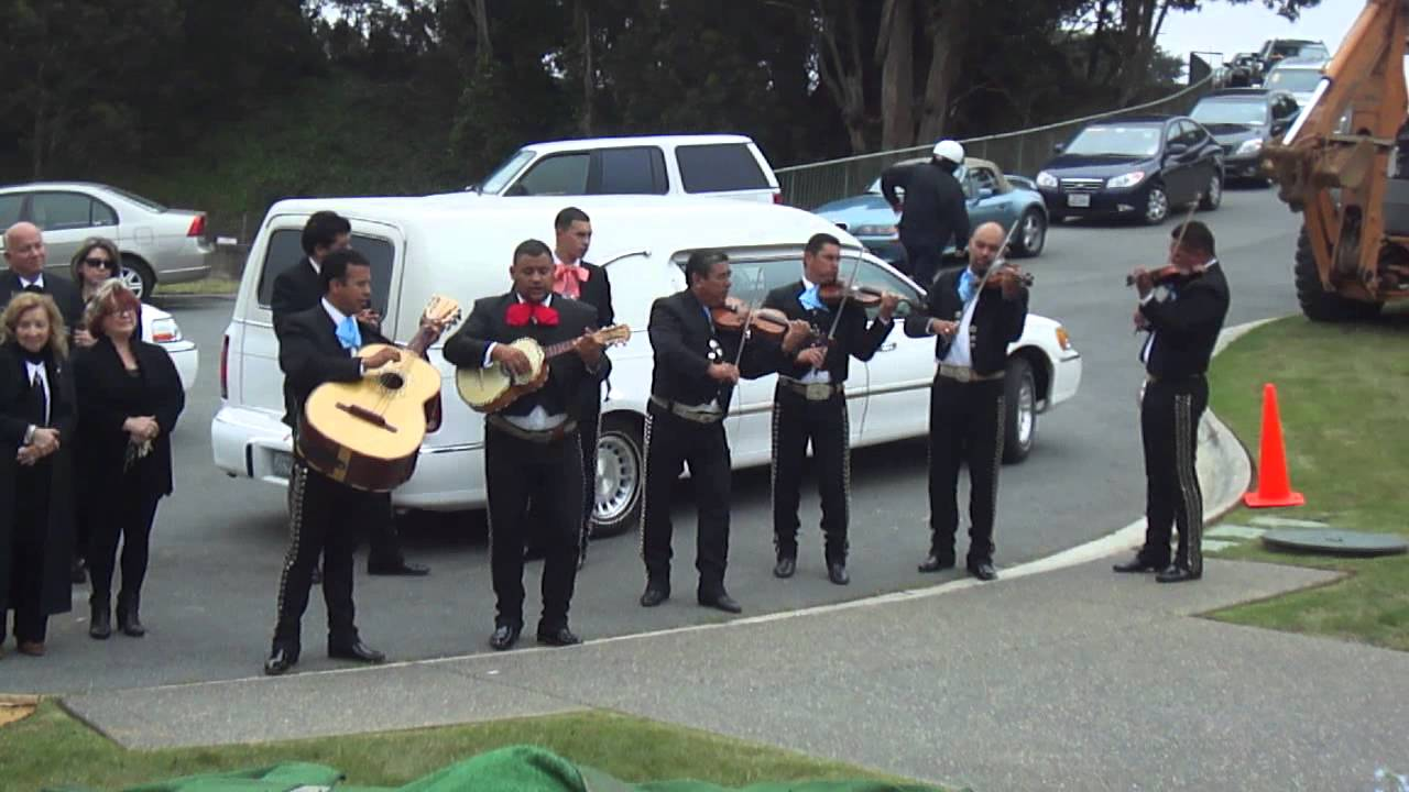Mariachi music sets the mood for a memorable funeral