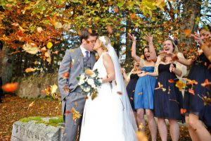 Wedding in the fall