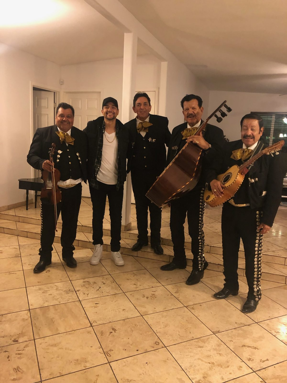Luis Coronel with Mariachi Alegre de Tucson on his birthday